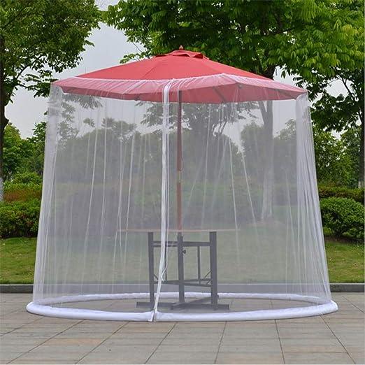 Liu Yu·casa creativa Jardín al Aire Libre Anti-mosquiteros Umbrella Net Cover Sombrilla de Mesa Shade Net Cover,Blanco: Amazon.es: Hogar