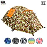 Backpacking Tent - CHILLBO CABBINS Best 2 Person Tent with Cool Patterns ULTIMATE HOLIDAY CAMPING GEAR GIFT for Backpacking Car Camping Music Festivals Family Camping Tents for Camping Sleeps 2-3