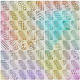 72 Designs Nail Vinyls Nail Stencil Sticker Sheets Set for Nail Art Design, 24 Sheets, 144 Pieces