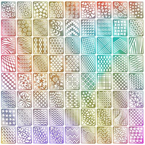 - 72 Designs Nail Vinyls Nail Stencil Sticker Sheets Set for Nail Art Design, 24 Sheets, 144 Pieces