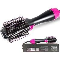 KOBWA Cepillo de aire caliente de un paso para el pelo estilizador y secador y voluminizador