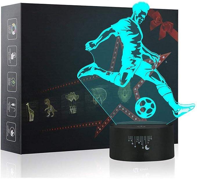 3D LED Soccer Night Light