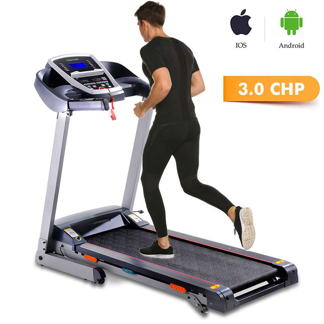 Miageek Fitness Folding Electric Jogging Treadmill with Smartphone APP Control, Walking Running Exercise Machine Incline Trainer Equipment Easy Assembly by Miageek (Image #1)