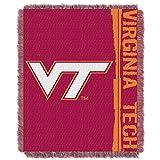Virginia Tech OFFICIAL Collegiate, Double Play 46 x 60 Triple Woven Jacquard Throw