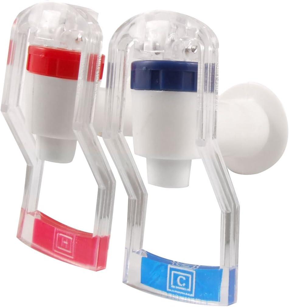 Lot de 2/en plastique poussoir Type Distributeur deau remplacement robinet Blanc Rouge Bleu
