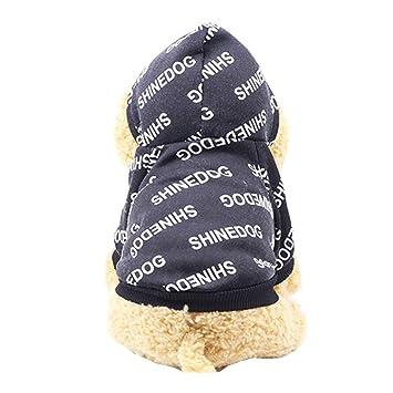 Morbuy Ropa de Perros Gatos Hip Hop, Chaqueta Abrigo Cálido Suéter de Algodón de Invierno Otoño Suave para Perros Pequeños Disfraces Gatos Cachorros ...