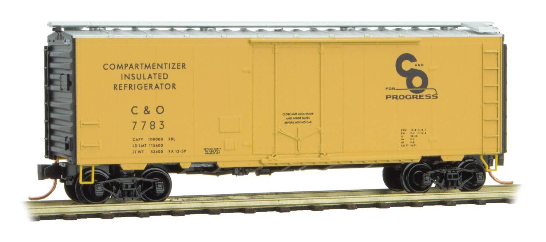 Micro-Trains MTL N-スケール 40フィート プラグドアボックス 車 チェサピーク&オハイオ/C&O #7783 B07KNLP47H