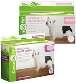 Disposable Doggy Diaper Liners Light Absorbancy Dog House Potty Training 44 Pack