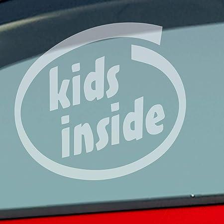 Auto Aufkleber In Deiner Wunschfarbe Kids Inside Intel Baby An Bord Kind 10x9 Cm Autoaufkleber Sticker Folie Auto