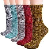 Field4U Women's Thick Winter Wool Socks 5-Pack - Super Thick C