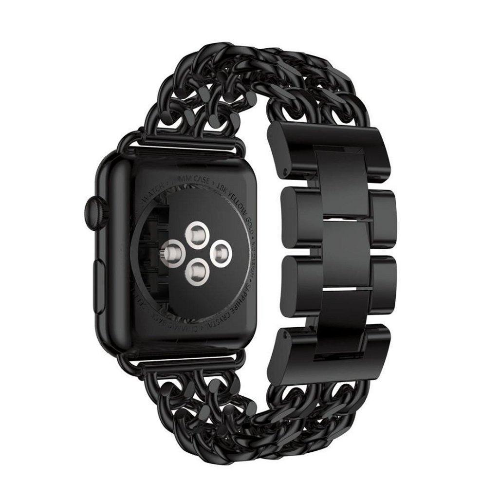 ステンレススチール時計バンド交換用ストラップfor Apple Watchシリーズ3 42 mm、tuscom knock-downバックル、調節可能、16.5 cm 16.5CM ブラック CYT72371104 B075ST57PM ブラック