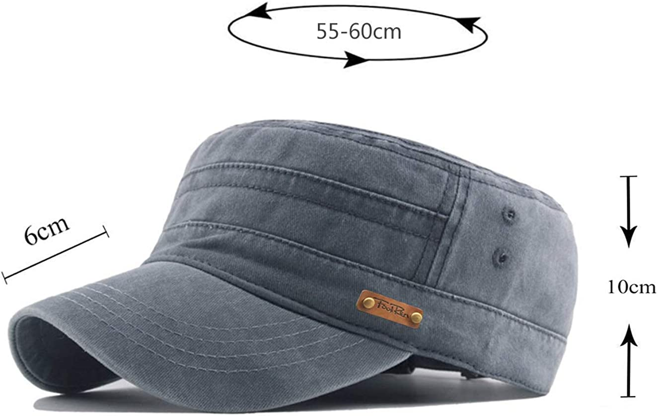 FOOKREN Army Military Hat Baseball Cap Men Cotton Classic Adjustable Breathable Outdoor Caps