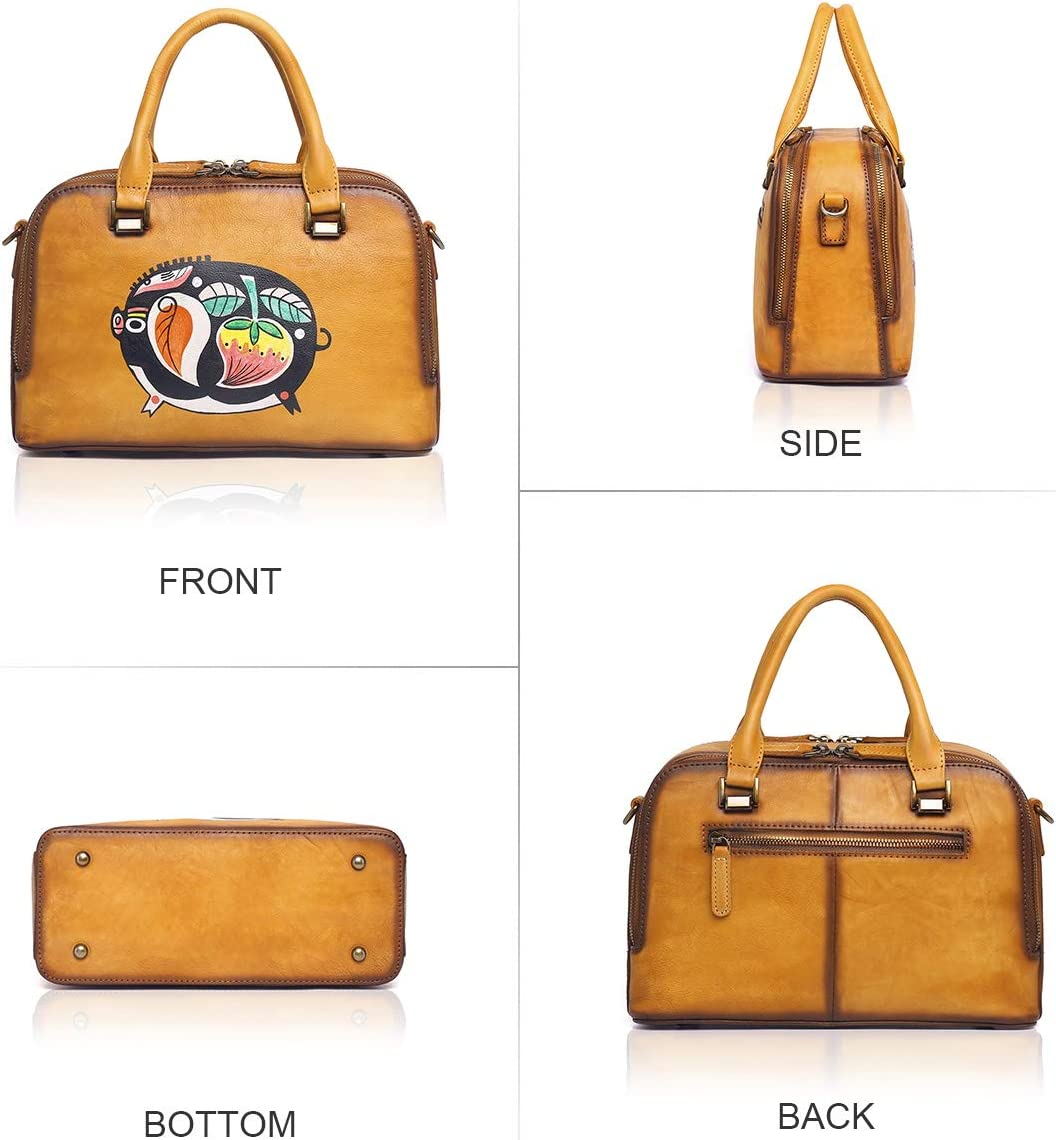 APHISON Womens Top-Handle Handbags soft leather Designer Ladies Satchels Shoulder Bags