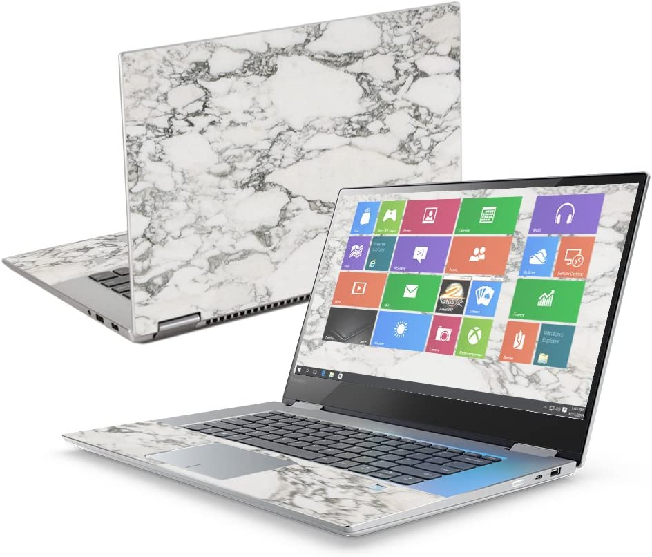 """MightySkins Skin Compatible with Lenovo Yoga 720 15"""" (2017) - White Marble 