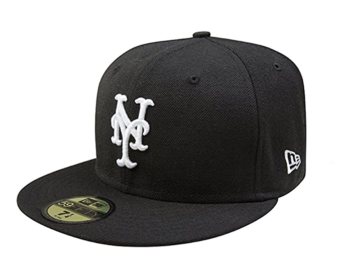 17a217d75 New Era 59Fifty Hat MLB Basic New York Mets Black/White Fitted ...