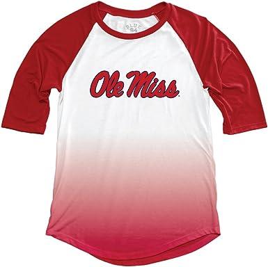 Navy Original Retro Brand NCAA Mississippi Old Miss Rebels Womens Slub V Neck Tee X-Large
