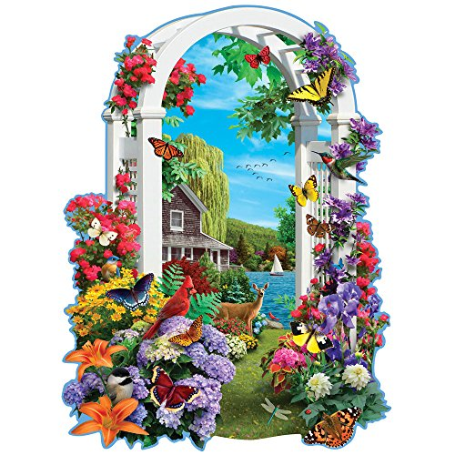 Bits and Pieces - 750 Piece Shaped Puzzle - Lakeside Arbor - Wildlife and Lake Puzzle - by Artist Alan Giana - 750 pc Jigsaw