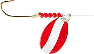 Little Joe Red Devil Single Hook Spinner Rig Fishing Lure - Ideal for Drifting and Trolling with Minnows, Crawlers and Other Live Bait, 36-Inch Snell