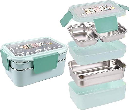 Edelstahl Lunchbox Brotdose Kinder Erwachsene Picknick Schule Büro Bento-Box
