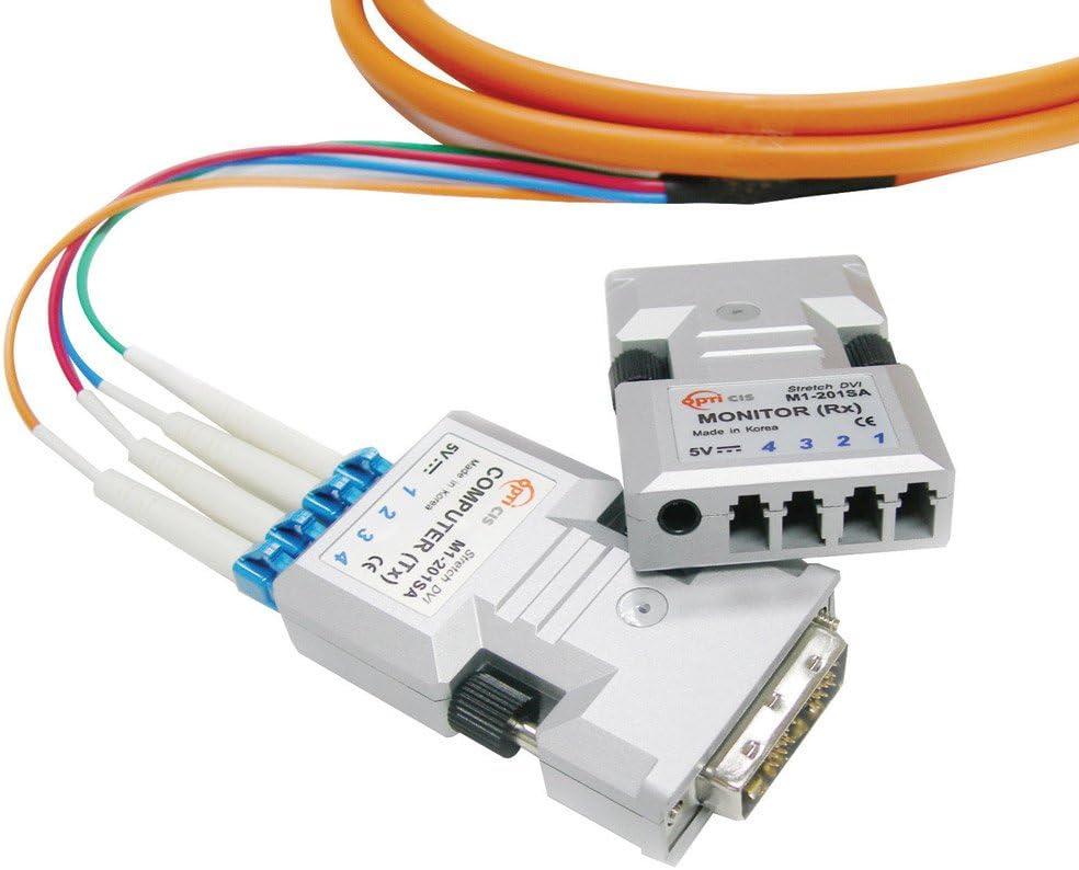 Pair of Opticis 2-Fiber M1-201DA-SJ Stretch DVI Comp//Monitor Tx /& Rx Ext Modules