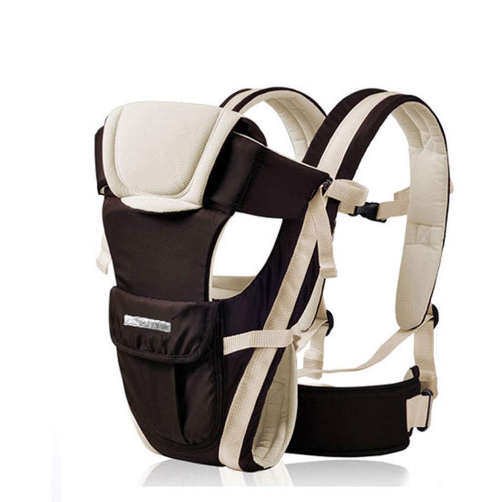 Edelehu Baby-Carrier Reise Zu Fuß Baumwolle Baby-Carrier Komfortabel und Ergonomisch Kind und Neugeborene Sling Multi-Position Tragen Sling Braun