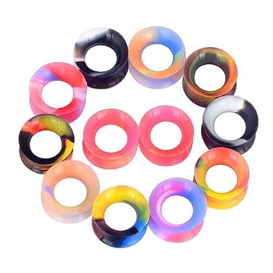 3 4 Plugs >> Amazon Com Oyaface 14pcs Camouflage Colors Soft Silicone Ear Skin