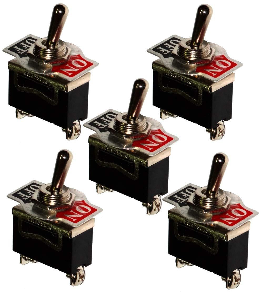 AERZETIX Interruptor conmutador de palanca SPST ON-OFF 15A//250V 2 posiciones C10654