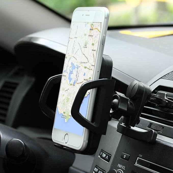 MEMTEQ® Qi Ladegerät Wireless Induktives Ladegerät für Auto KFZ Car Charger mit drei Induktionsspulen Induktionsladegerät Auto Handy Halterung Holder