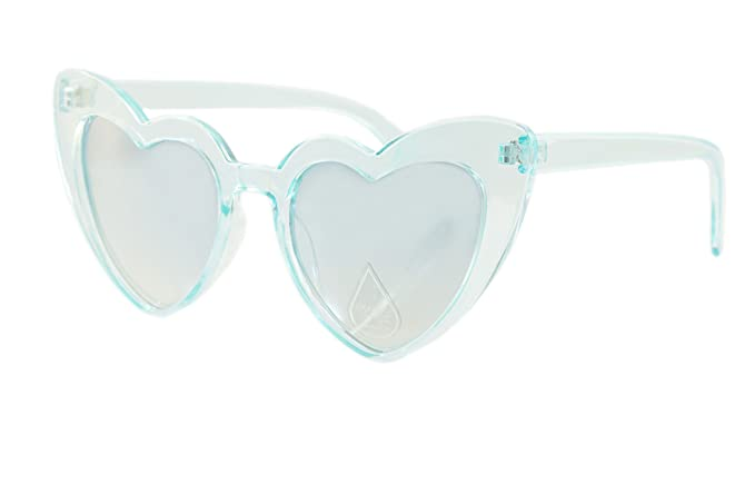 2188cf0696 Amazon.com  FBL Iconic Celebrity Heart Cat-Eye Mirror Lens ...