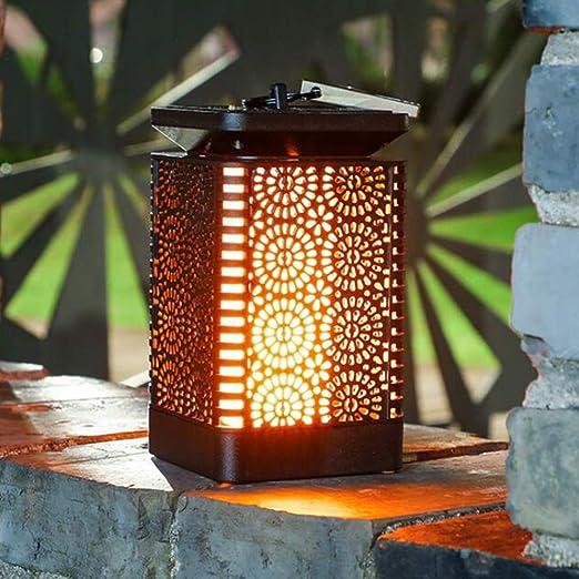 Farol solar Mobestech para exteriores, resistente al agua, luces solares para jardín, porche, jardín, patio, decoración: Amazon.es: Iluminación