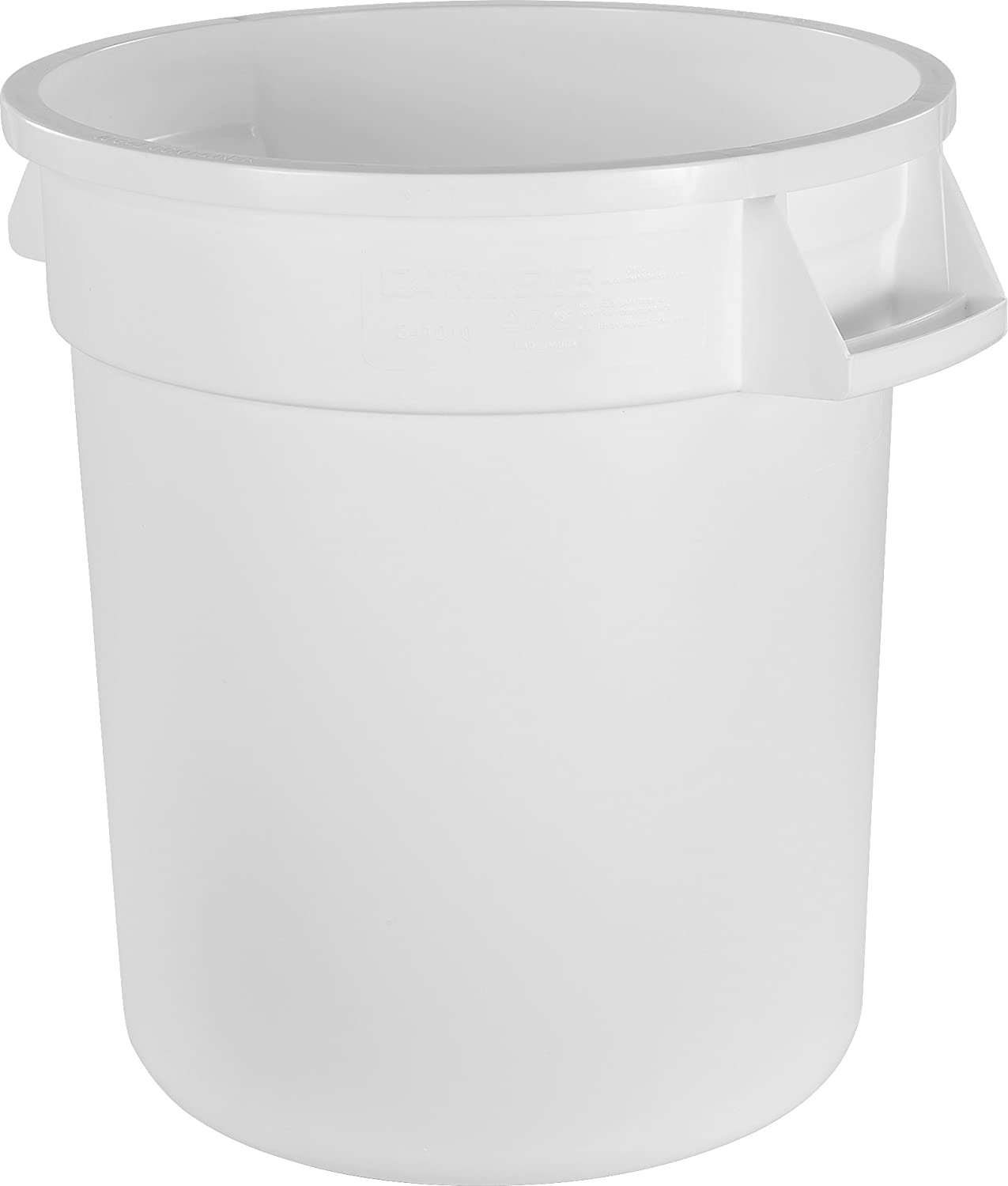 Carlisle 34101002 Bronco Round Waste Container Only, 10 Gallon, White