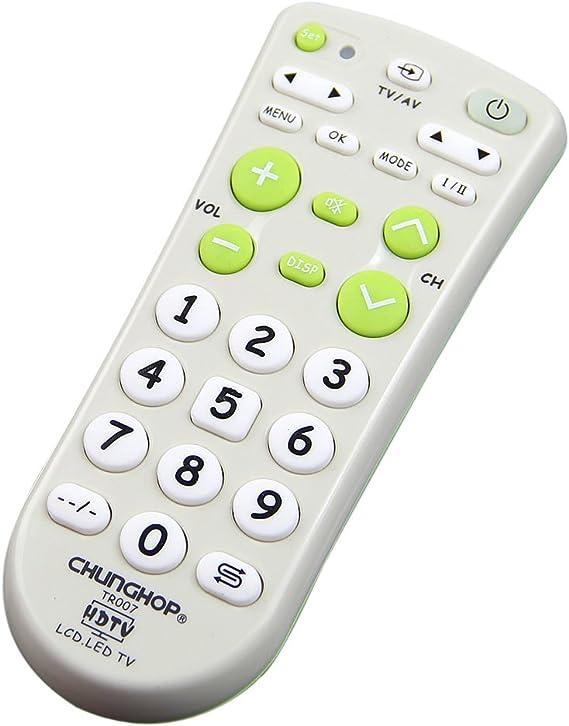 Llave Universal CHUNGHOP grande blanco verde corto multifunción mando a distancia para LCD TV LED HD: Amazon.es: Electrónica