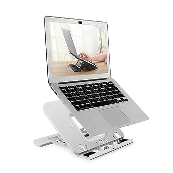 Bfriend - Soporte portátil plegable/ajustable para ordenador portátil para Notebook/iPad / Tablet, color negro/blanco (T001), color blanco: Bfriend: ...