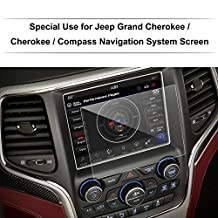 JEEP Grand Cherokee / Compass / Cherokee 8.4-Inch 2016 2017 Car Navigation Screen Protector,LFOTPP Clear Tempered Glass In-Dash Screen Protector Center Touch Screen Protector Anti Scratch High Clarity