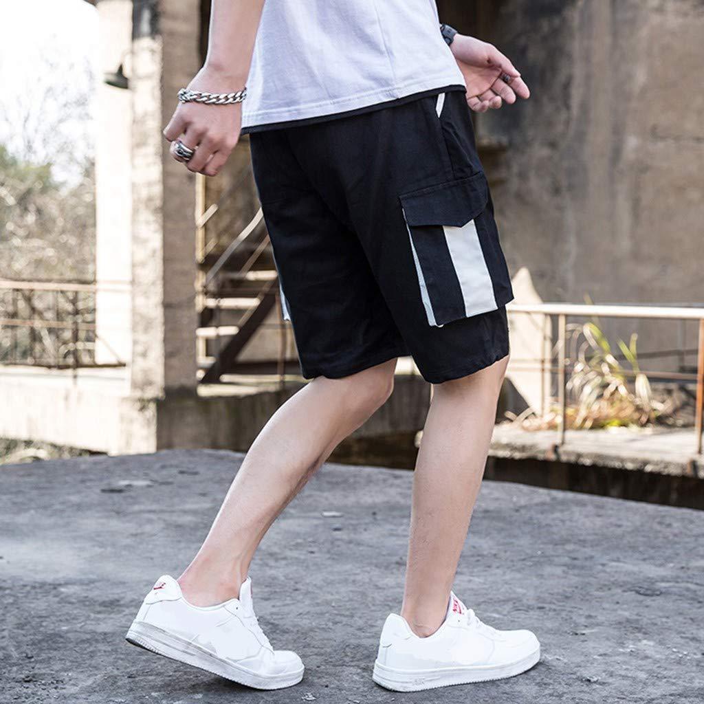 xinxinyu Pantaloni Corti Uomo Sportivi Estate Shorts Uomo Sportivi Cotone Estivo Uomo Lavoro Short Pantaloni Corti Pantaloncini da Lavoro Casuale Moda Palestra Pantaloncino