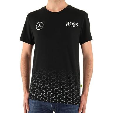 HUGO BOSS - MERCEDES - Camiseta Stretch para hombre - negro, XL: Amazon.es: Ropa y accesorios
