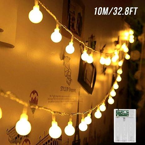 Guirlandes Lumineuses Zorara 10m 80 Ampoules Guirlande Lumineuse Led à Piles Petites Boules Pour La Décoration Extérieure Intérieure Fête Noël