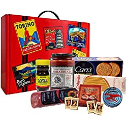 Italian Tour Deluxe Gourmet Gift Basket with Sopressata and Torrone