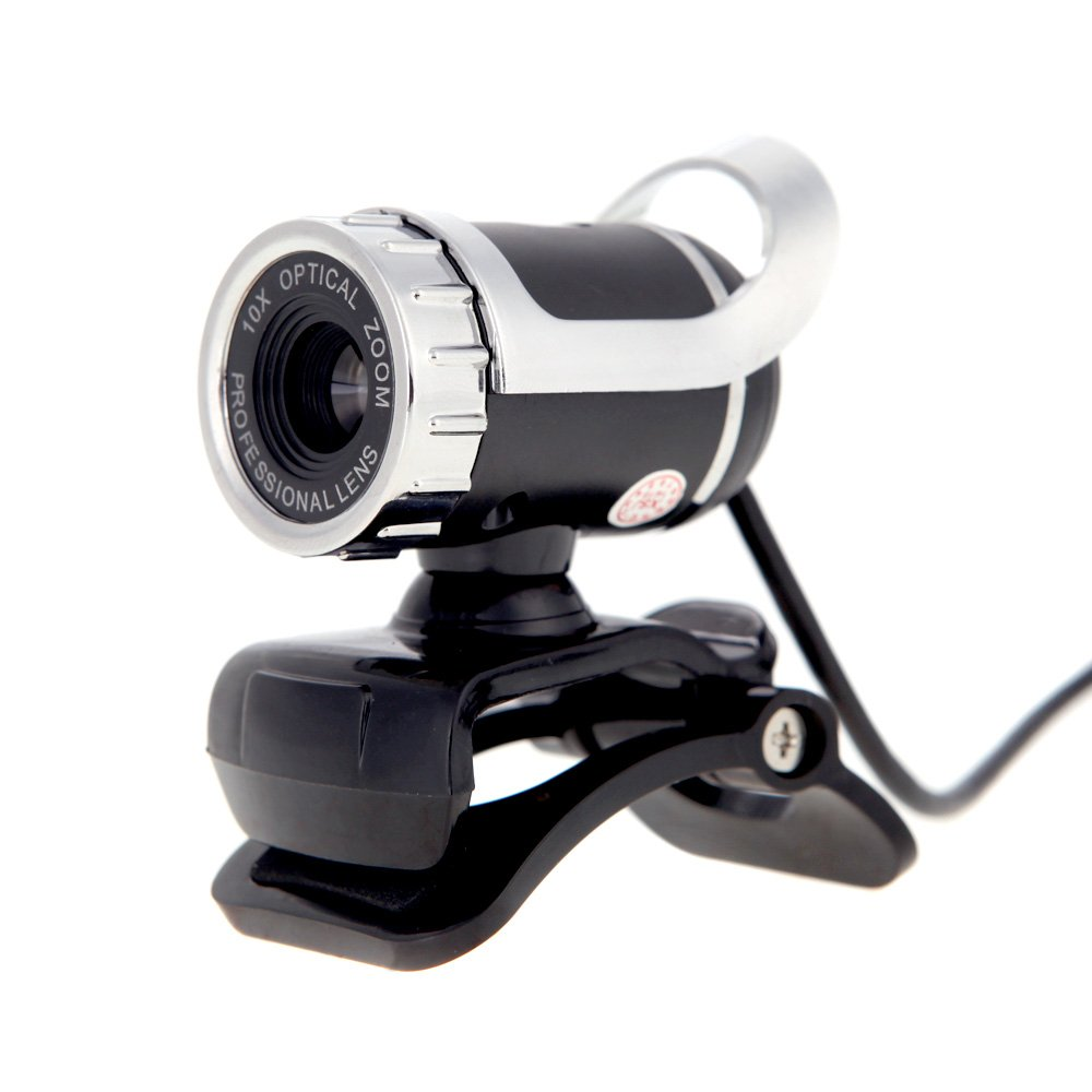 KKmoon USB 2.0 50 Megapixel HD Camera Web Cam 360 Degree with MIC Clip-on for Desktop Skype Computer PC Laptop(Silver)