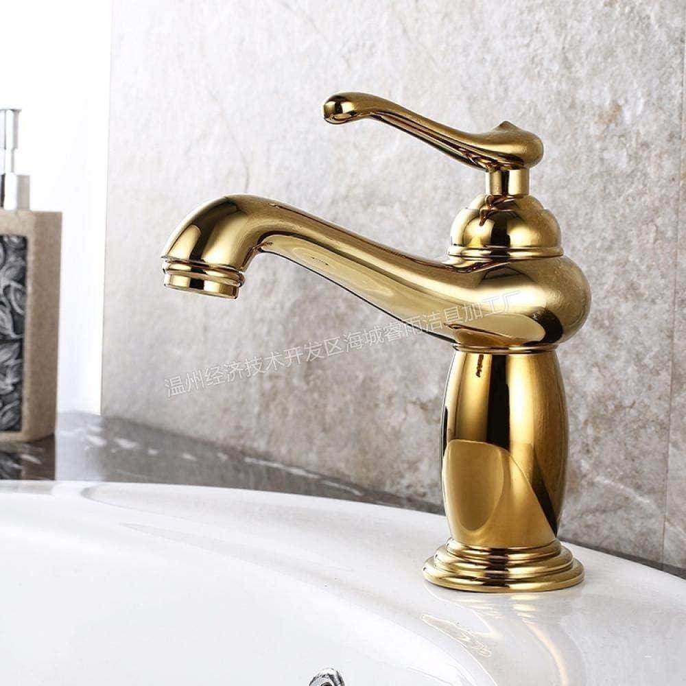 Grifos Grifos de cocina Grifos de lavabos de baño Grifos de fregadero de baño Grifería de raqueta de tenis de mesa sin plomo Grifo retro chapado en oro