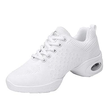 b2d1f93b40b2 YIBLBOX Womens Mesh Ballroom Dance Sneakers Lightweight Comfortable Jazz  Shoes