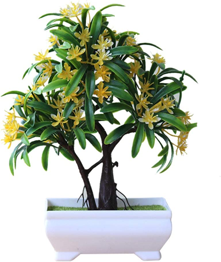 Orange MoGist Kunstpflanze K/ünstliche Gr/ün Bl/ätter Blume Bonsai Kunststoff F/älschung Blumendekoration f/ür Zuhause B/üro Garten Hochzeit Dekoration