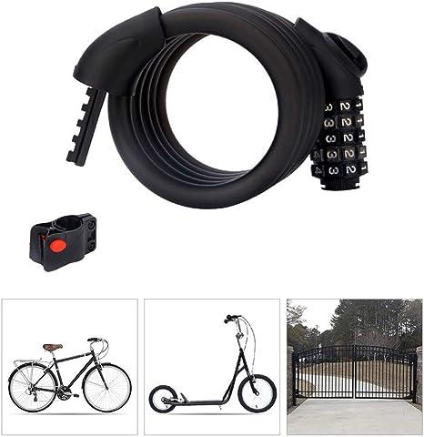Candado Bici Candado Bicicleta Alta Seguridad con Abrazadera de ...
