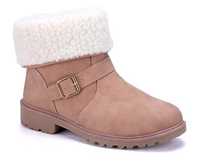 Schuhtempel24 Damen Schuhe Klassische Stiefeletten Stiefel Boots Blockabsatz Schnalleschlupf 4 cm
