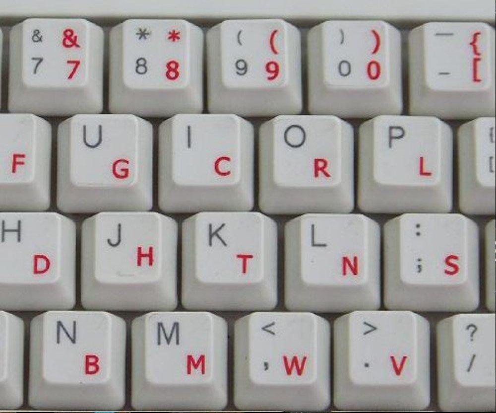 Dvorak autocollant clavier transparent avec des lettres BLEU - Convient pour ne importe quel clavier Qwerty Keys