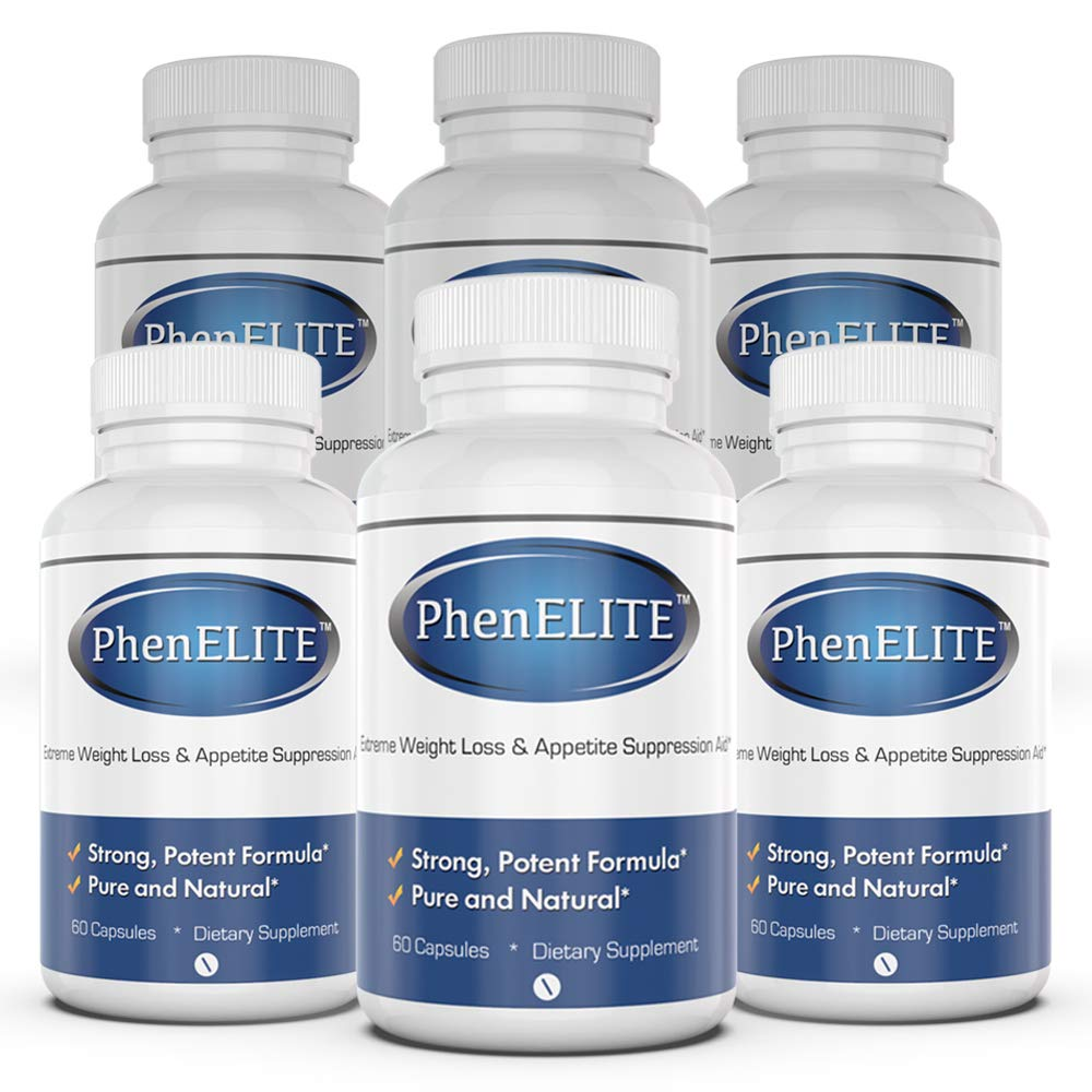 PhenELITE Weight Loss & Appetite Suppressant: Belly Fat Burner & Diet Supplement Pill with Apple Cider Vinegar, Raspberry Ketones & Green Tea Extract - Boost Energy & Concentration - 360 Capsules by Phenelite