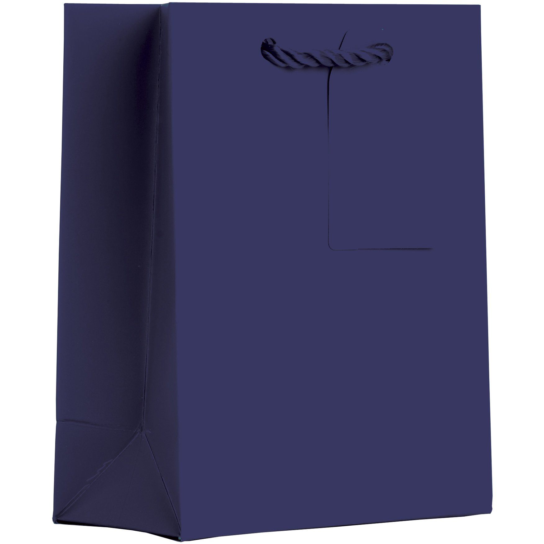 Jillson Roberts Bulk 120-Count Small 6'' x 7.5'' x 3'' Matte-Finish Gift Bags Available in 15 Colors, Navy Blue
