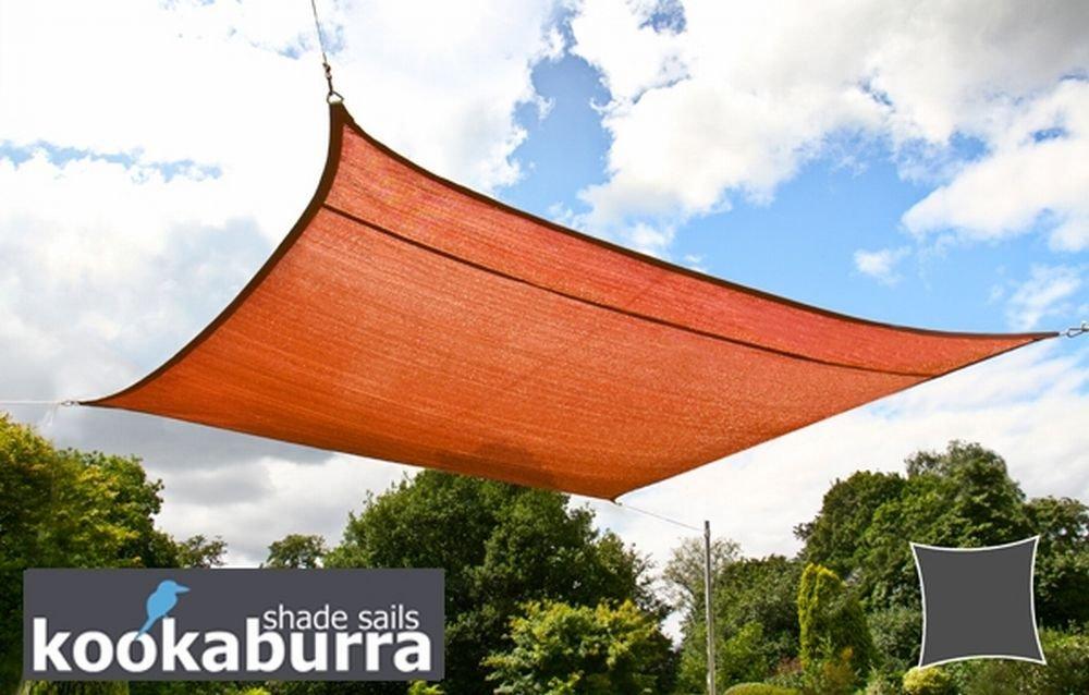 クッカバラ 赤褐色通気性日除けシェードセイル(ニット織) - 紫外線93.3%カット - OL0120LAT (6 x 4.2 x 4.2m直角三角形) B07CRPVZT2 17995 6 x 4.2 x 4.2m直角三角形  6 x 4.2 x 4.2m直角三角形