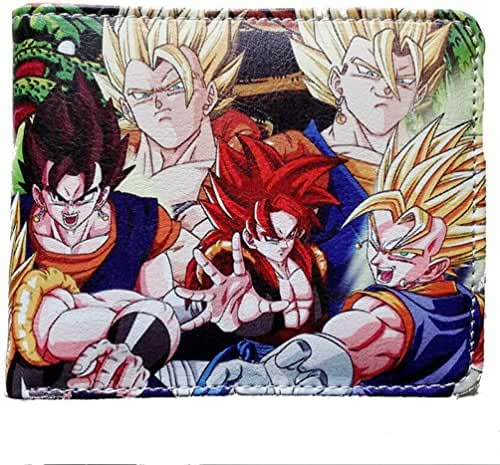 Anime Dragonball Z Characters Leather Bi-Fold Men's Boys Wallet with Gift Box