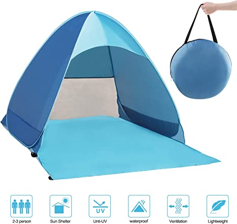 2M Large Picnic Blanket Travel Camping Folding Tent Mat Car Sun Heat Protection